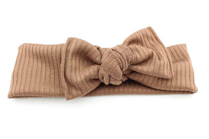Light Brown Ribbed Darling Knot OS
