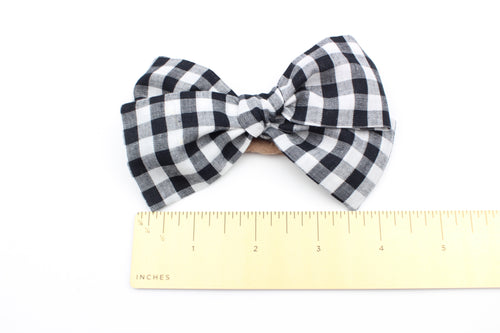 Chunky Gingham Bow