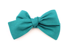 Teal Small Bow