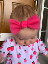 Load image into Gallery viewer, Tulle Knot Hot Pink Bow