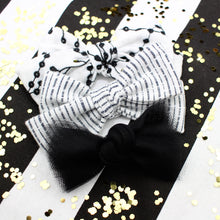 Load image into Gallery viewer, Tulle Knot Black Bow