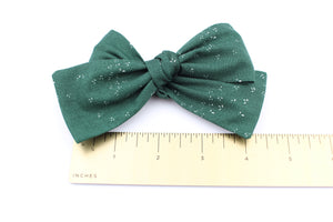 Green Speckle Bow