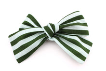Load image into Gallery viewer, Cabana Stripe Blue & Green Bow -SALE