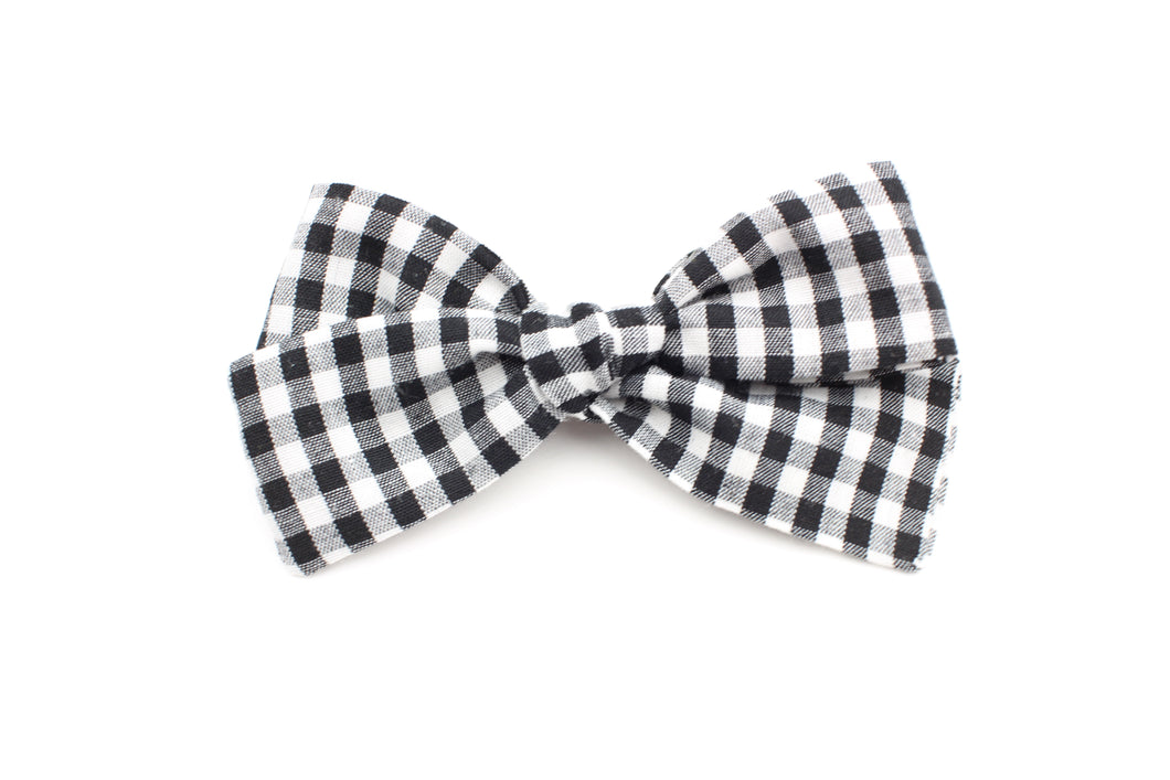 Gingham Small Bow