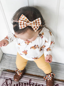 Pumpkin Patch Plaid Bow