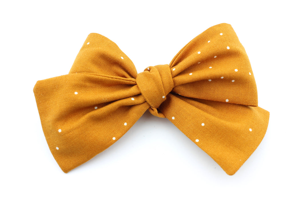 Pumpkin Spice Dot Bow
