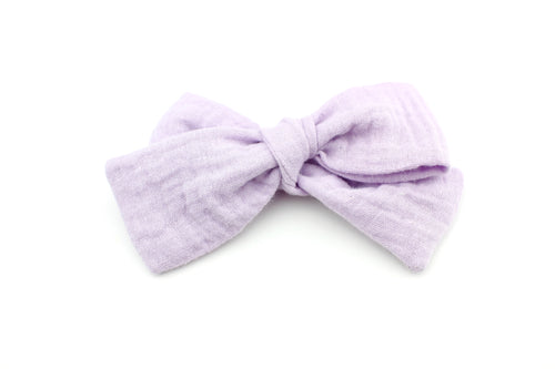 Muted Lavender Gauze Bow