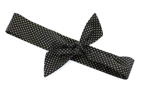 Black & Gold Dot Lovely Knot -SALE