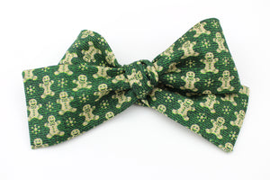 Gingerbread Green Classic Bow