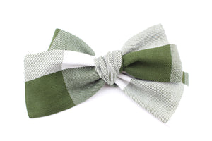 Dark Green Buffalo Plaid Bow