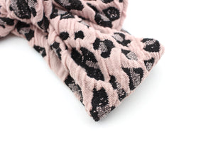 Dusty Pink Leopard Darling Knot OS