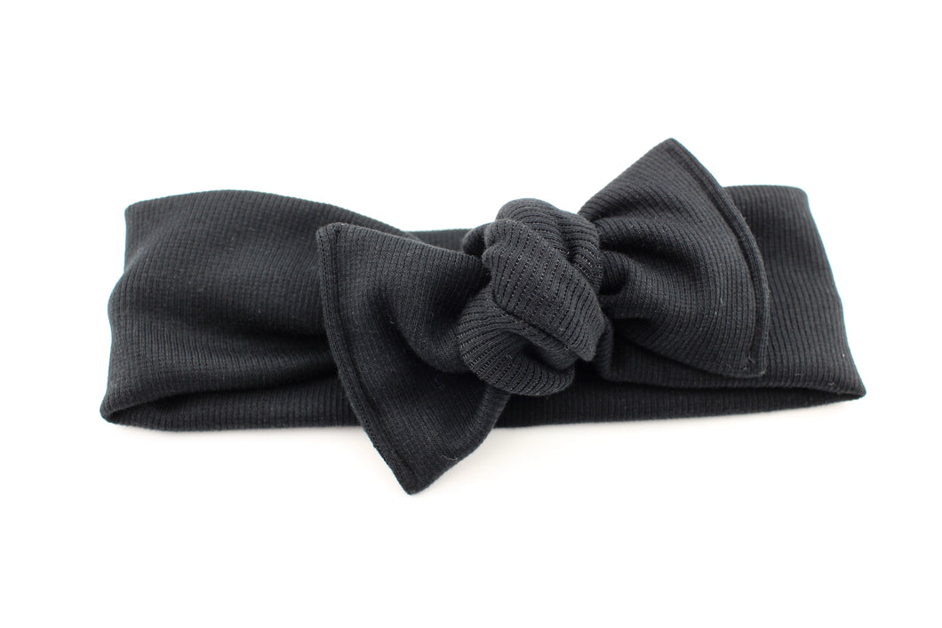 Black Ribbed Darling Knot OS
