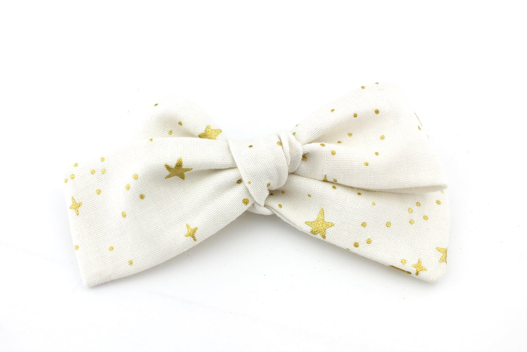 Little Stars White Small Bow