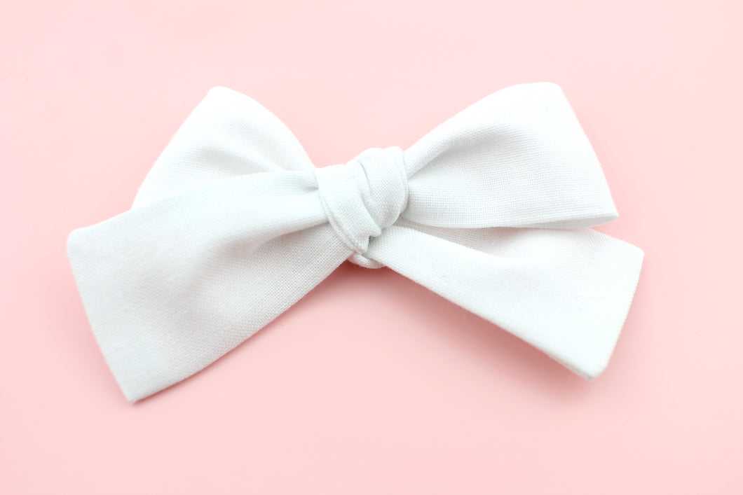 White Small Bow