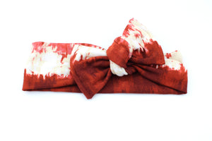 Deep Red Tie Dye Darling Knot OS
