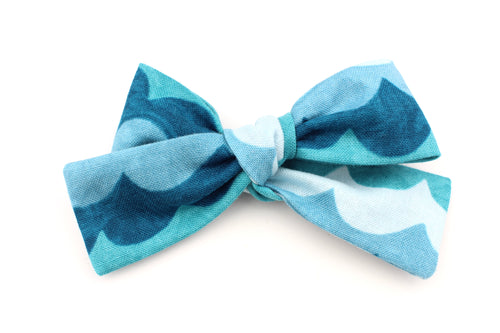 Turquoise Waves Small Bow