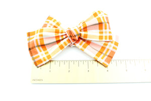 October Plaid Bow