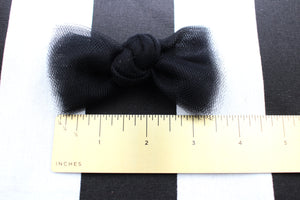 Tulle Knot Black Bow