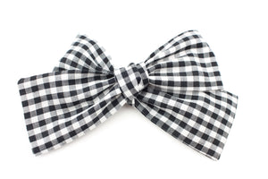 Gingham Classic Bow