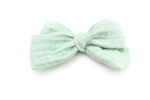 Muted Mint Gauze Bow