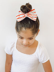June Stripes Bow