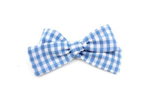 Light Blue Gingham Small Bow-SALE