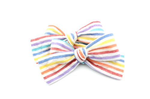 Rainbow Stripes Pigtails
