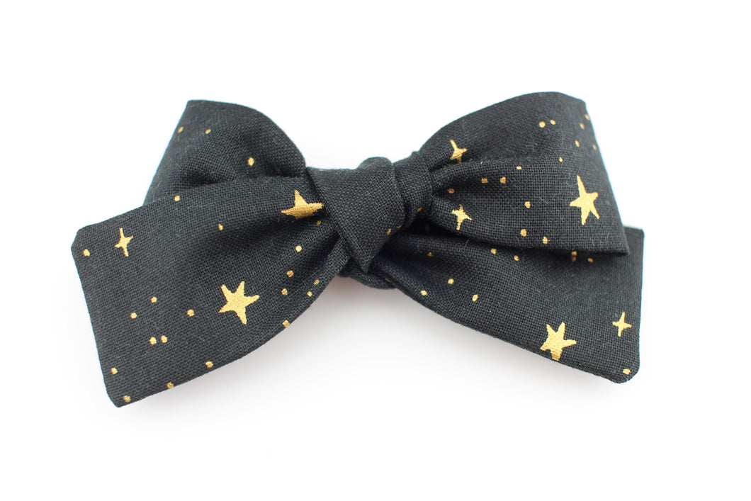 Little Stars Black Small Bow