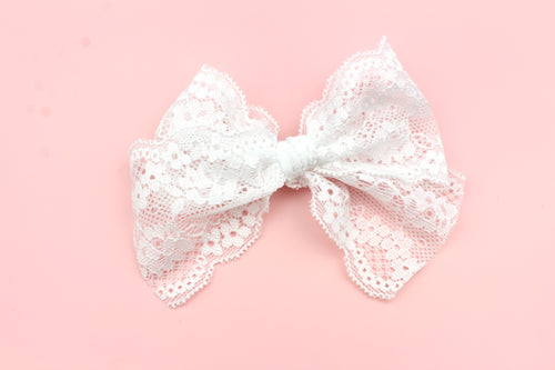 White Lace Bow