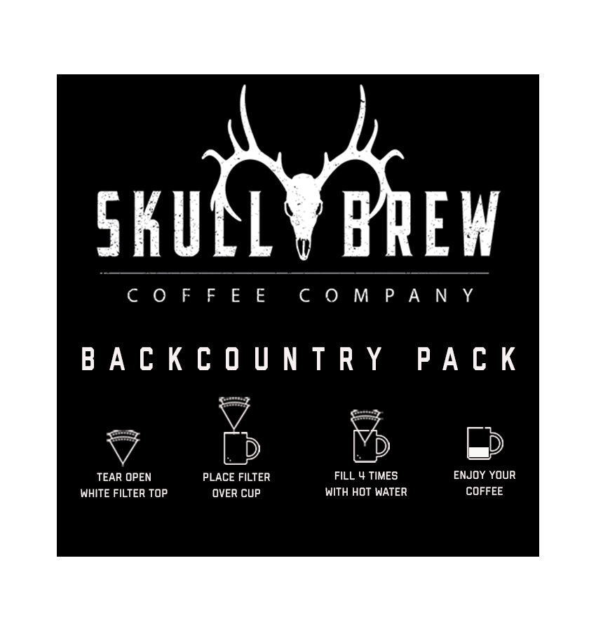 Backcountry Pack Coffee **FREE SHIPPING** Single Serve Pour Over Coffee Packs (Pack of 6)