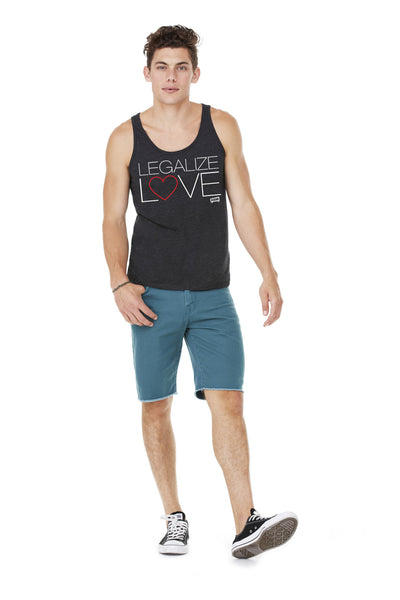 "Unisex Vintage Blend ""Legalize Love Heart"" Tank Top"