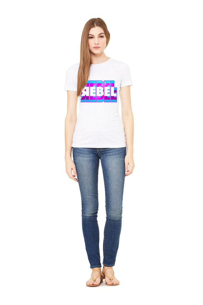 "Women's Fitted 100% Cotton ""Rebel"" Tee"