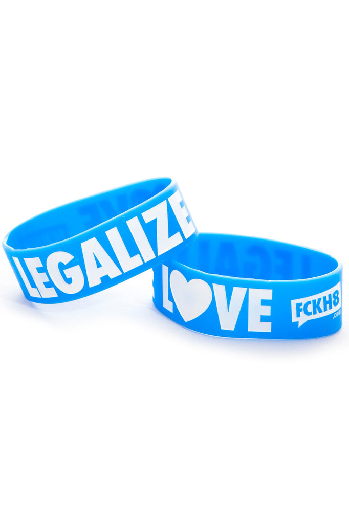 "Blue Legalize Love 1"" Wristband"