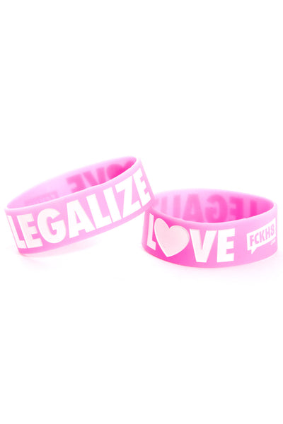 "Pink Legalize Love 1"" Wristband"