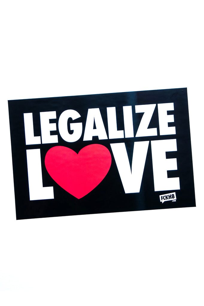 Legalize Love Bumper Sticker