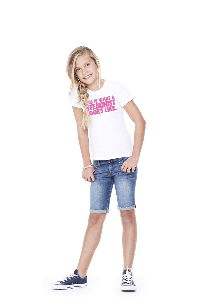 "Kid's 100% Cotton ""#Feminist"" Tee"