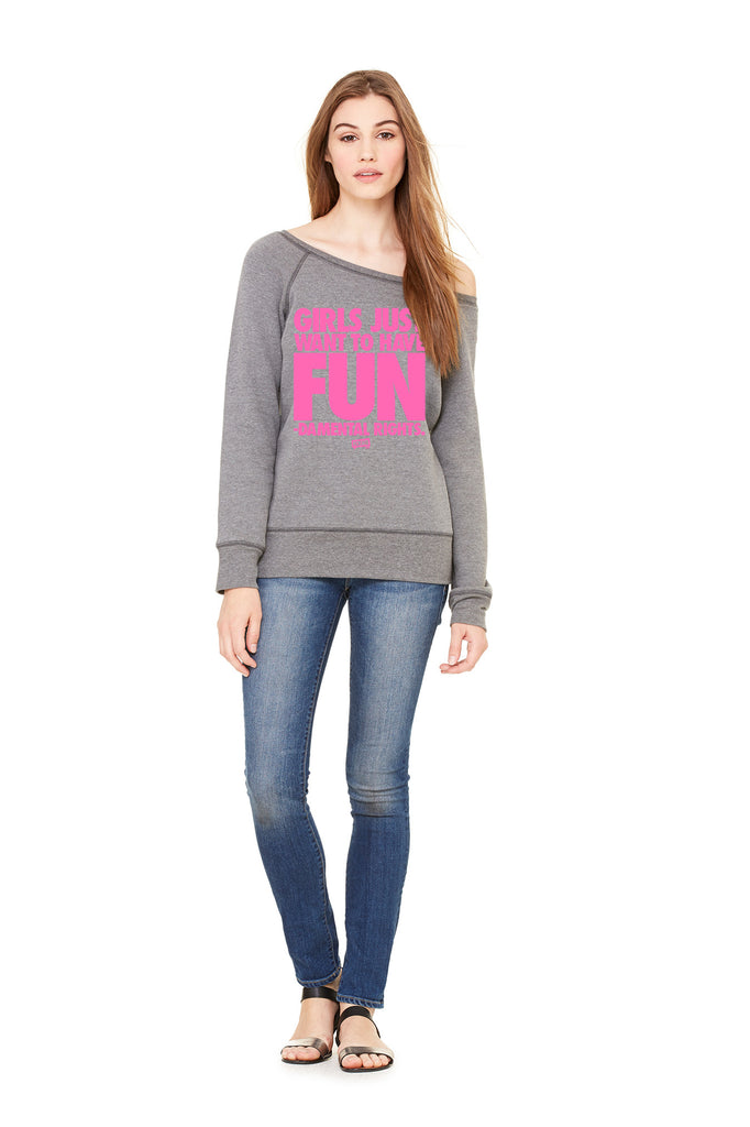 "Women's Fleece Wide Neck ""Fundamental Rights"" Sweatshirt"