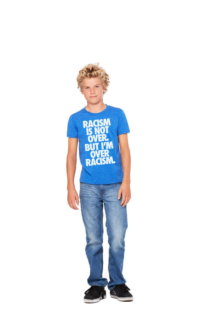 "Blue Kid's Vintage ""Anti-Racism"" Tee"