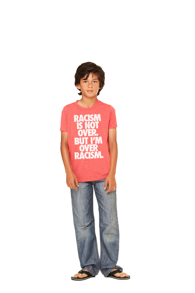 "Red Kid's Vintage ""Anti-Racism"" Tee"