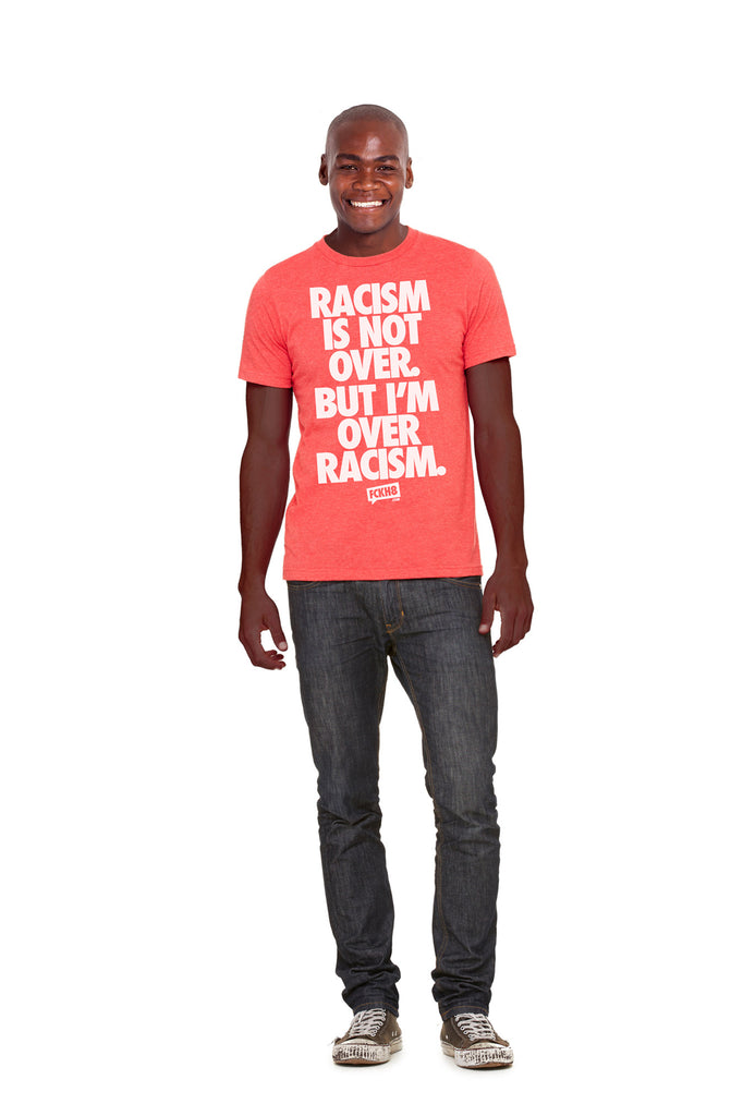 "Red Unisex Vintage Blend ""Anti-Racism"" Tee"