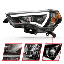 Load image into Gallery viewer, Projector Headlight Set w/Plank Style Switchback Black w/Amber Pair