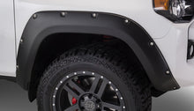 Load image into Gallery viewer, Pocket Style® Fender Flares 4 pc. Front Tire Coverage 1.5 in. Front Height 5.5 in. Rear Tire Coverage 1.5 in Rear Height 5.5 in. Smooth Finish Black