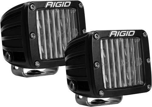 D-Series Fog Light OE Mount DOT/SAE J583 Certified Black Square Housing 4 White LEDs Set Of 2