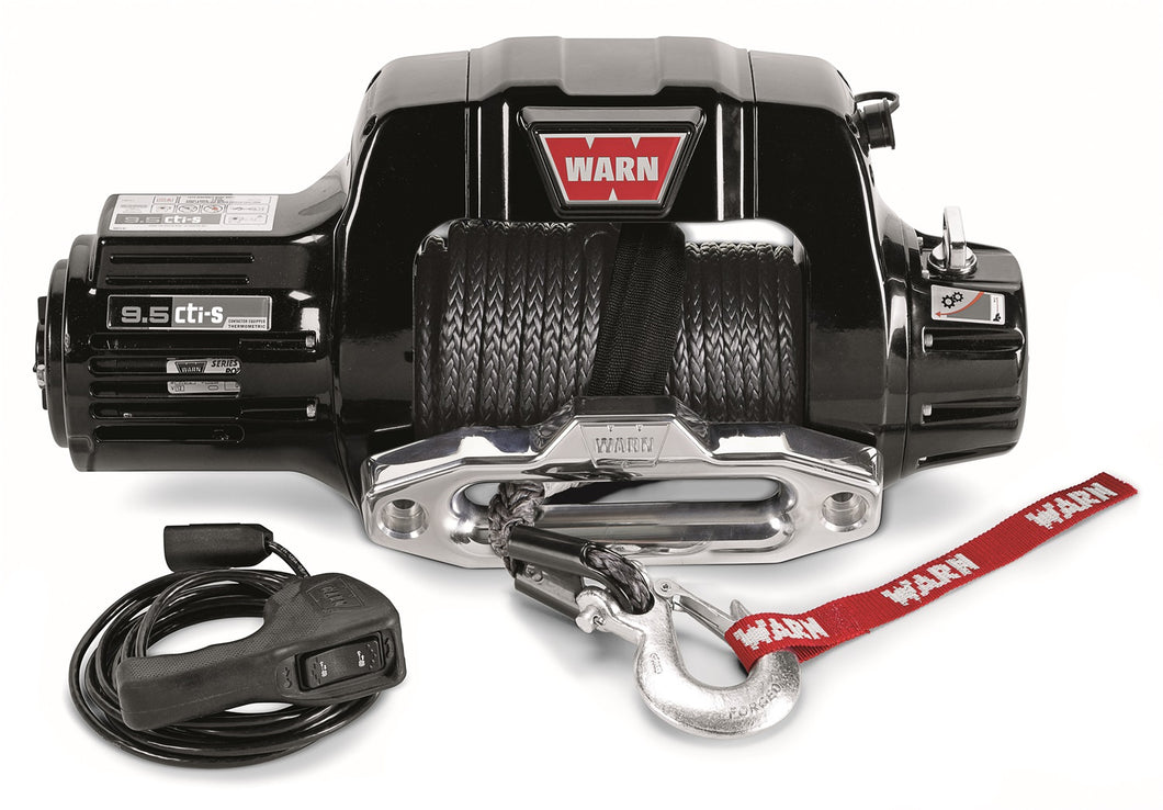 9.5cti-s Self-Recovery Winch 9500 lbs./4310 kg 4.6 HP w/Polished Aluminum Hawse Fairlead 100 ft. Spydura Rope
