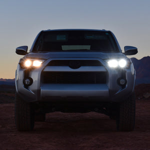 Toyota 4Runner LED HIgh Beam Set compared to stock halogen bulbs