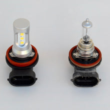 Load image into Gallery viewer, Toyota 4Runner LED fog light compare with halogen bulb