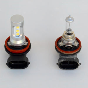 Toyota 4Runner LED fog light compare with halogen bulb