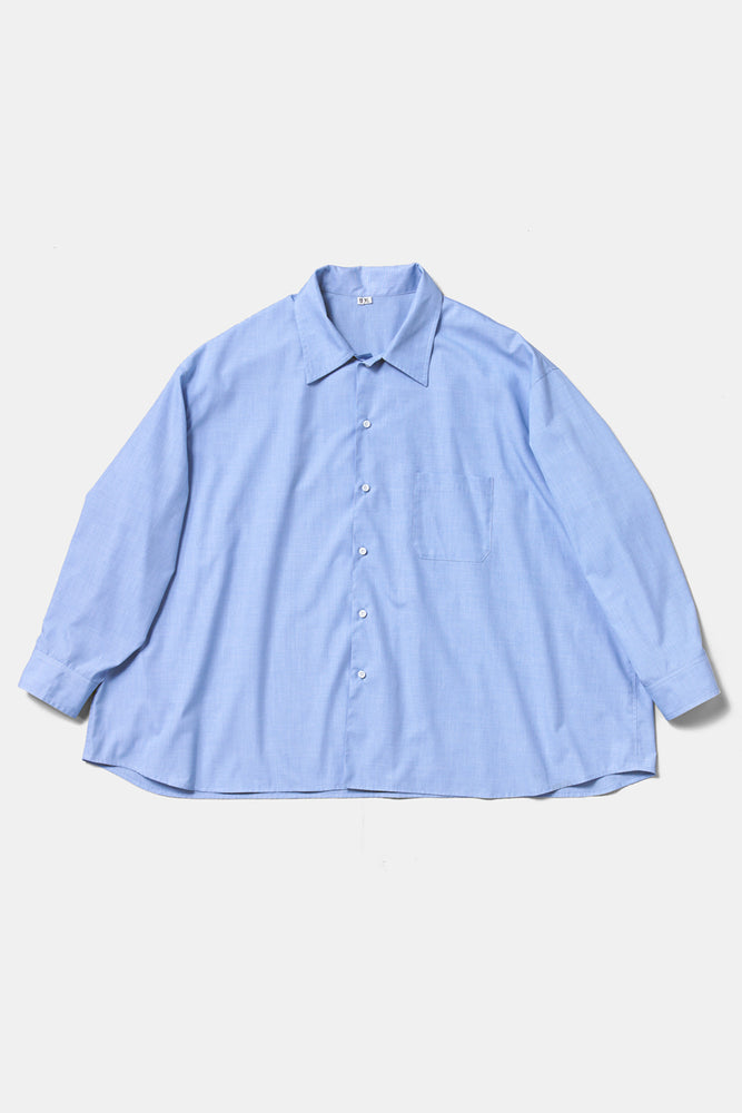 10XL Big Shirts - Bleu Clair / Made with French Military Fabric
