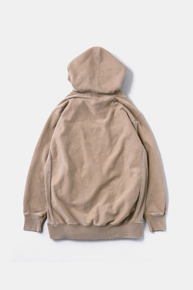 5GS Pigment Dyed Sweat Parka Brown