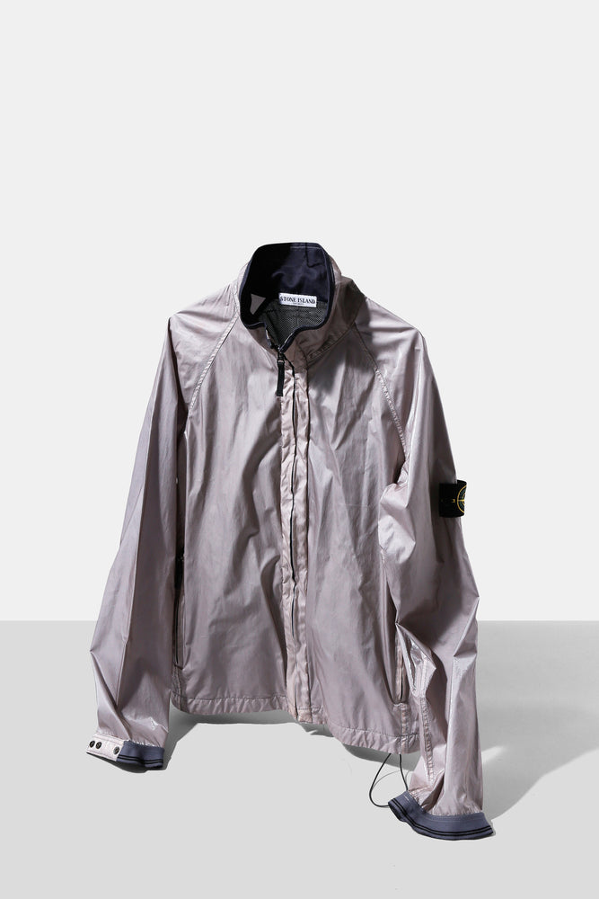 Half Office / Stone Island Silver Silk Jacket